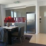 Kitchenette and entrance door