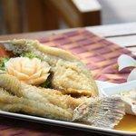 Deep Fried Whole Sea Bass.