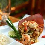 Pad Thai with Tiger prawn