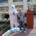 Polar bear statue in Puerto Marina Benalmadena!
