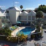 Fint hotell og basseng område
