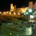beautiful castle of Tosss de mar by night x