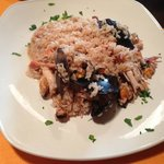 Generous portions like of this seafood risotto
