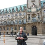 Brent infront of the Rathaus