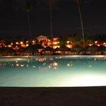 Pileta de noche