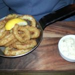 Calamari (Breadcrumbed Squid sautéed in Garlic, Lemon and Parsley with Tartare Sauce)