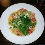 Warm Tiger Prawn Salad (sautéed Tiger Prawns with Chilli, Garlic, Lemon, Parsley and Cherry Toma