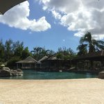 view from the sun lounger at the pool