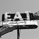 Eat BBQ sign