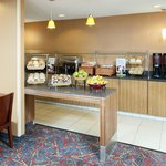 Complimentary hot breakfast is served daily.