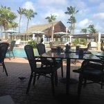 Café da manhã e piscina