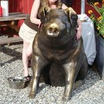 Cashmere Country Boys BBQ and their Brass PIG!