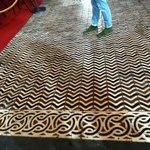 very intricate floor