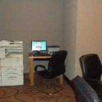 Business centre with coin-in-the-slot internet
