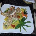 Pappardelle con Scampi e Asparagi