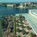 view of bay and convention center from room #1704