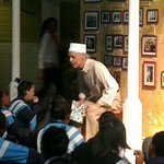 Guided tour for a group of school children