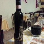 uno dei vini presi in bottiglia