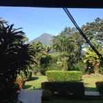 View from our porch. Great early-morning view of the Arenal volcano.