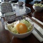 Salade d'Accueil et Thé Coréen.