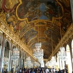 Hall of mirror in the Versailles Palace