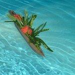 Bateau sur l'eau, de la piscine...