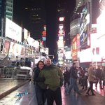 My girlfriend and I in Time Square