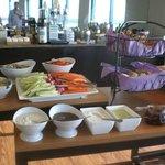 Evening appetizers in Regency Club Lounge