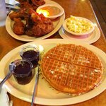 excellent chicken and waffles