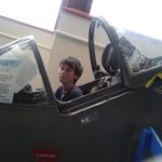 Peter in the cockpit