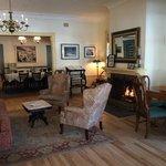 Living room inside the old Inn building