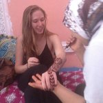 Henna tattoos offered by the staff