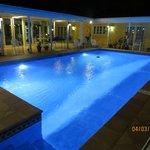 Swimming pool in the night