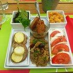 Assiette composée : Côté sud (façon tapas)