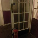 Every fire door was like this. Hope there's not a fire then!!