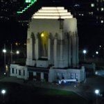 memorial light at night