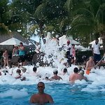 foam pool party