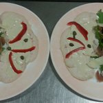 Thunfisch Carpaccio und Tacchino Tonnato