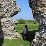 The impressive walls at the Roman Fort