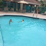The pool is climated