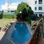 outdoor garden and pool