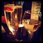 lovely evening enjoying some bubbly