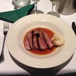 Roasted rump of lamb with dauphinois potatoes and caramelised onions (on set menu)