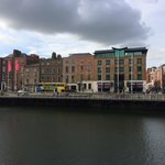 View of hotel from Temple Bar area south of The River Liffey.