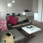 Stylish King One Suite living quarters separate from bedroom.