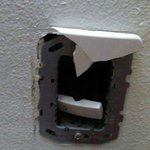 Hole in the wall electrical switch