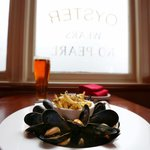 Fresh local mussels and frites.