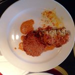 Panko crusted claw and lump crab cakes with a roasted red pepper cream sauce