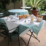 Our own private breakfast on the patio every morning!