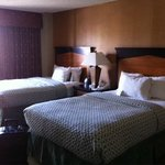Two double beds in suite